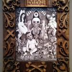 Brushed ink & pyrography, 14 x 18 in. (in 21.5 x 25 in. hand carved frame) SOLD