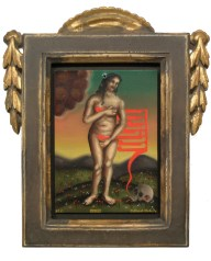 oil on metal, 4.25 x 6 in. (plus frame) $450.00 Sold