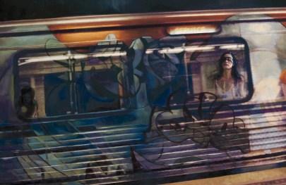 Oil & inkjet on canvas board, 35 x 23 in. $2,000.00