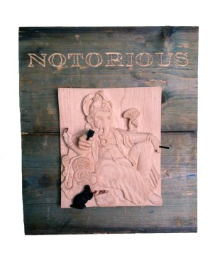Wood carving 13 x 15 x 3 in. $2,500.00