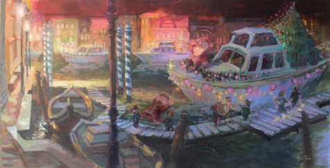 Acrylic on Watercolor Paper, 12 x 6 in. (plus frame) $500.00 Sold