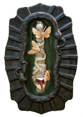 Paper clay, polymer clay, acrylic paint, 20 x 13 x 5 in. $2,300.00