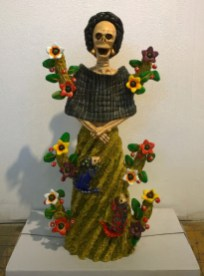 Sculpted and painted clay, 10 x 20 x 6 in. $500.00
