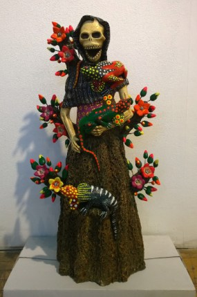 Sculpted and painted clay, 11 x 22 x 8 in. $650.00