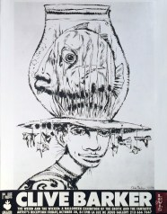 Clive Barker - The Weird and The WickedGlossy poster, 18 x 24 in. $150