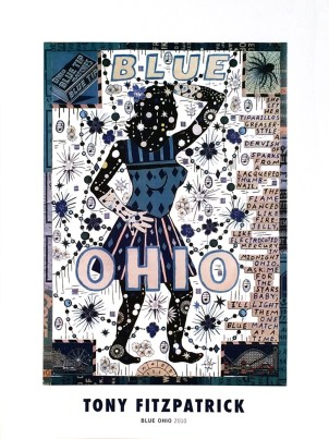 Tony Fitzpatrick - Blue OhioGlossy poster, 12 x 16 in. $20
