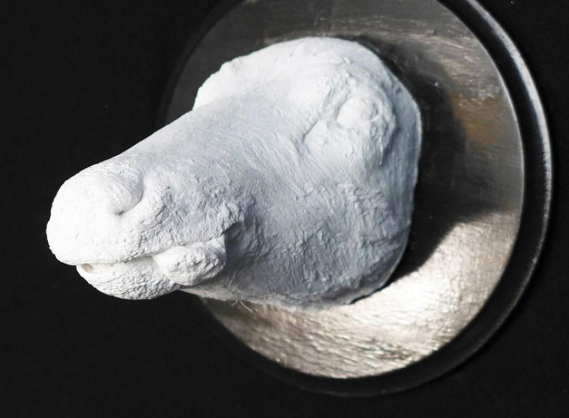 plaster casting, 11 x 11 x 11 in. $225.00
