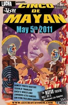 Lucha Va Voom - Cinco de Mayan 2011lightweight gloss stock, 11 x 17 in. $15