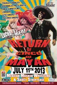 Lucha Va Voom - Return of Cinco de Mayan 2013lightweight gloss poster, 11 x 17 in. $15