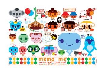 Memo Me - Peek a Boo10pt cardstock matt print (edition of 50), 18 x 12 in. $10