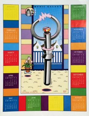 Neon Park - Music Galaxy Calendar (1981)Poster, 17.5 x 23 in. $15