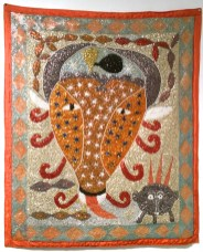 Fabric, sequins, and beads, 35.5 x 42 in. $3,000.00