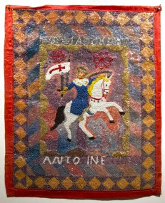 Fabric, sequins, and beads, 31 x 39 in. $4,000.00