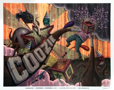 Nathan Ota - Coozie 2012 Show PosterGlossy poster, signed, 16 x 20 in. $40