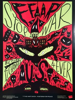 David Sandlin - Fear Could Change Us 4-Ever (war show) Glossy poster, 18 x 24 in. $20