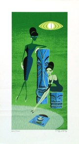 Shag - Conga Girls at Rest Silkscreen print, (edition 184 of 300) 24.25 x 13.5 in. $550