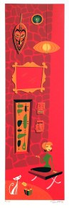 Shag - Gift Silkscreen print (edition of 150), 8 x 25.5 in. $750 (as-is)