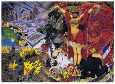 Robert Williams - Mata Hari Lithograph on archival paper, signed, edition of 350, 23.75 x 32.5 in. $225
