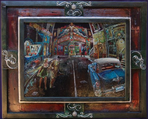 Oil on masonite in frame constructed by the artist, 15 x 11.5 in. (21.5 x 17.5 in. with frame), $500.00 Sold