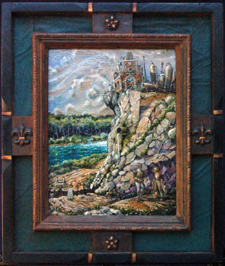 Oil on masonite in frame constructed by the artist, 12.5 x 9.5 in. (18.25 x 15.5 in. with frame), $400.00 Sold