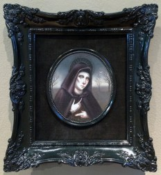 Oil on mounted canvas in vintage frame, 5.5 x 5 in. $500 Sold