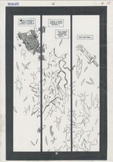 "HELLBLAZER (1993) aka CONSTANTINE - Garth Ennis, Steve Dillon & Vincent Locke Issue #66, Page 13: The Origin of Gabriel, Splash Page, 11"" x 17"" $1,200"