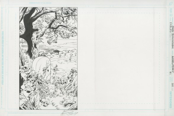 """FABLES (2009) THE DARK AGES - Bill Willingham, Mark Buckingham & Andrew Pepoy (signed), Issue #81, Page 24: The Grave of Boy Blue, Final Page Splash of """"The Dark Ages"""" 17"""" x 11"""" $1,500"""