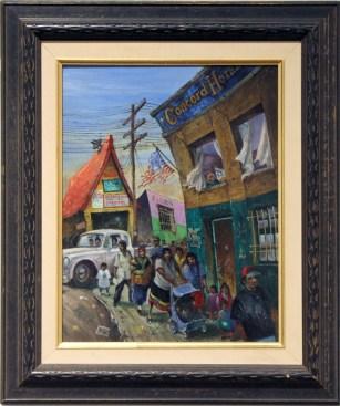 """Harold Fox - Concord Hotel Oil on masonite. 12x16"""" in 19x23"""" frame $700 Sold"""