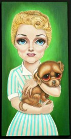 Vicki Berndt - How Much is that Doggie in the Window?Acrylic on canvas, 12 x 24 in. (13 x 25 in. framed), $1,500