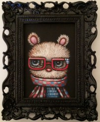 Edward Robin Coronel - Hugsy BearAcrylic on canvas, 5 x 7 in. (8 x 10 x 2 in. framed) $275 Sold​