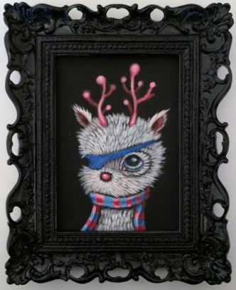 Edward Robin Coronel - Patchy-poohAcrylic on canvas, 5 x 7 in. (8 x 10 x 2 in. framed), $275 Sold