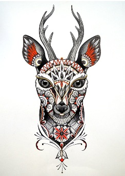 Roxi Tattoo - Deer Mama