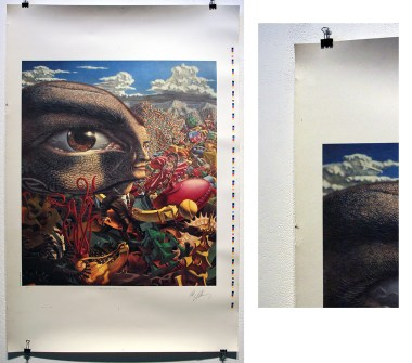 Robert Williams - Land of Retinal Delights (signed printer's proof) 26 x 40 in., $325
