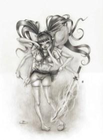 Mayuko Nakamura - Invincible Highschool Girl (Drawing)