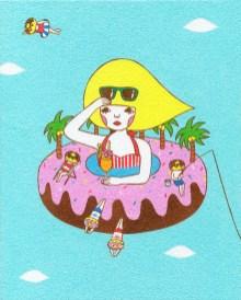 Naoshi - Donut Beach, Heaven ViewSand on art board, 8 x 10 in., $300