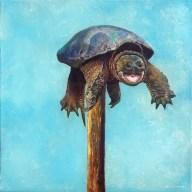 Mark Gleason - Fuckedoil on canvas 18x18 in. $1000 Sold