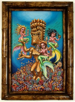 "Big Toe - Mondo TikiAcrylic on panel, 24x36"" (32x43"" framed), $2,400 Sold"