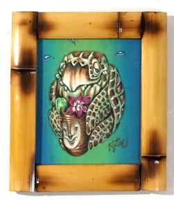 "Big Toe - Pau Hana HonuAcrylic on panel, 8x11"" (12x14"" framed), $300"