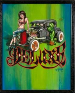 BigToe - Heidi Deluxe Acrylic on canvas, 15x18 in. $800