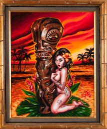 BigToe - Tiki Maiden Acrylic on canvas, 16x20 in. $1200 Sold