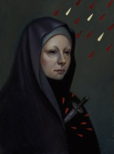 Jasmine Worth - Blood Heart,oil on board, 4x5 in. $695 Sold