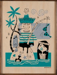 Derek Yaniger - Catch of the Day Ink, gouache on paper, 10.5x14 in. $700 Sold