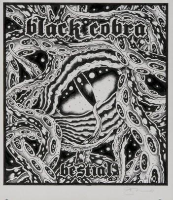 Alan Forbes - Black Cobra Bestial Ink on paper, 8x11 in. $300