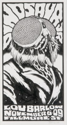 Alan Forbes - Dinosaur Jr. Fly Ink on paper, 7.5x14 in. $300
