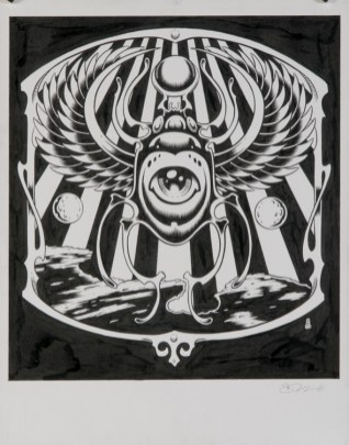 Alan Forbes - Jimi Hendrix: Valleys of Neptune Ink on paper, 8.5x11 in. $800