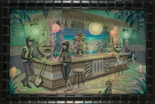 Aaron Marshall - Tiki Bar Acrylic on canvas, 27x43 in. $4500 Sold
