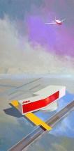 "Michael Murphy - PSA Desert Hub. acrylic on canvas, 18x36"", $1,800"