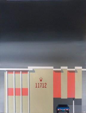 "Michael Murphy - LA Dingbat No 1. acrylic on canvas, 18x24"", $1200 Sold"