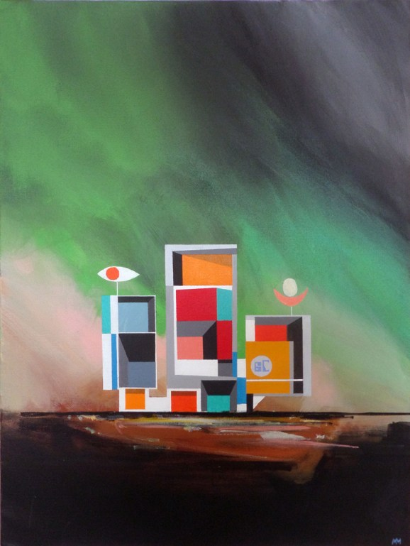 "Michael Murphy - Station No 6C. acrylic on canvas, 18x24"", $1200"