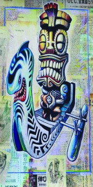 "Brad ""Tiki Shark"" Parker - Kea Moku: The White Ship (Velour Giclée)velour giclée, signed+ltd. 1/50 30x60 in. $50 each"